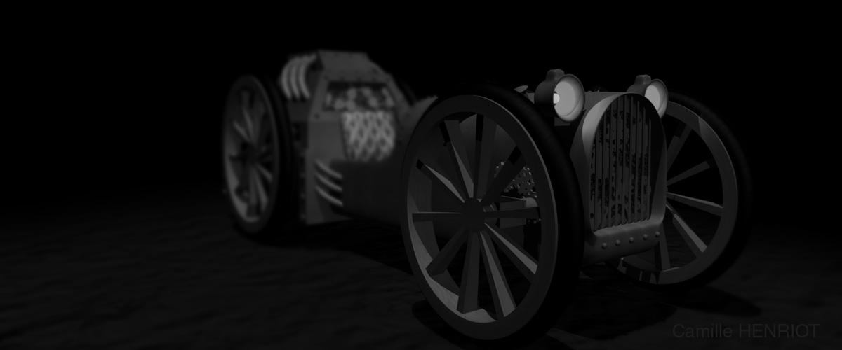 véhicule Steampunk en 3D